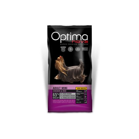 Optimanova Adult (Mini) Hühnchen & Reis Probe 100g / Hund