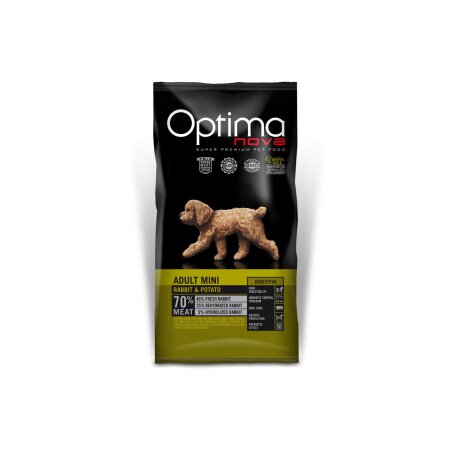 Optimanova Adult (Mini) Digestive Kaninchen & Kartoffel Probe 100g /Hund